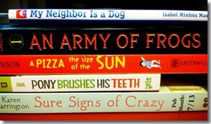 book spine poem