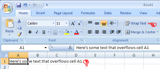how to wrap text in an Excel cell