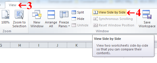 how to have 2 excel windows open in one monitor